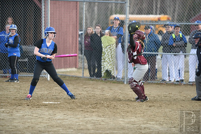 Catcher Sarah Mullen outs Sumner in the 5th inning.  Photo by Franklin Brown