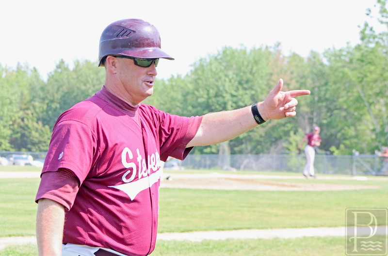sports; coach; Dan; Kane; Dan Kane; Eagles; GSA; George Stevens Academy; high school; school; sport Coach Dan Kane, shown here in a 2015, will be inducted into the Maine Baseball Home of Fame in July. Photo by Anne Berleant