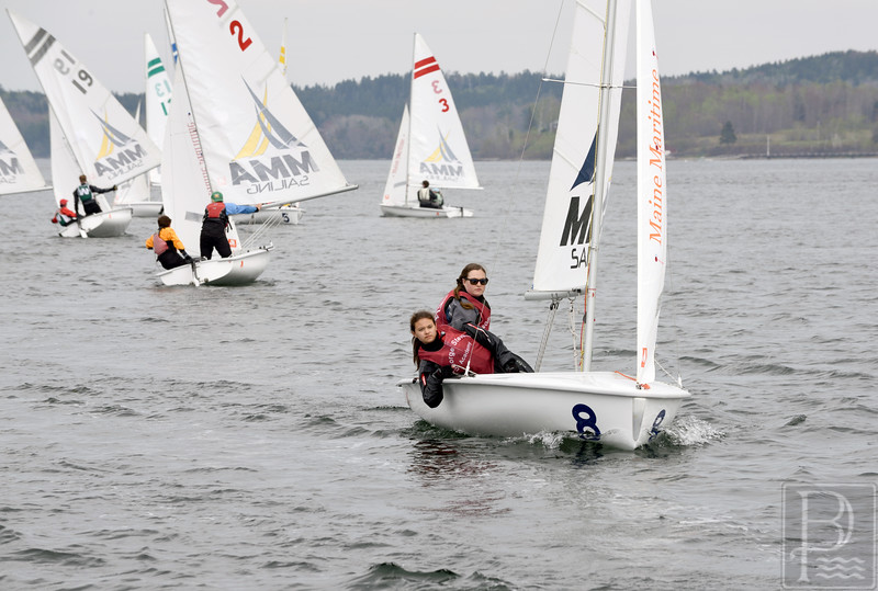 sports; GSA; downeast; regatta; desfosses; 052115; Eagles; George Stevens Academy; crew; game; high school; sailing; school; sport; team Light winds stifled the 2015 Downeast Regatta. Photo by Franklin Brown