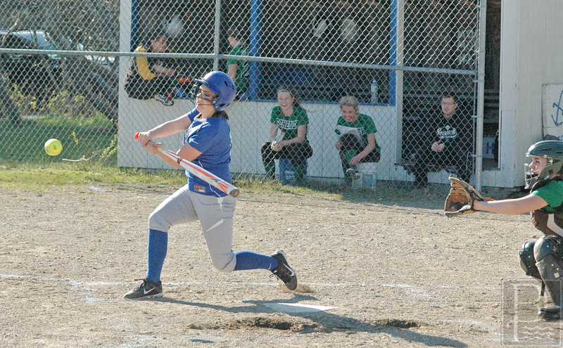 Ssports; DIS; softball; schenck; amy; friedell; 051216 Amy Friedell gets a hit against Schenck. Photo by Jack Scott