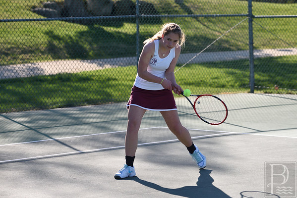 sports; GSA; DIS; tennis; lindsay; nevin; 050516; Eagles; George Stevens Academy; game; high school; school; sport; team Lindsay Nevin finds her return in a match against Deer Isle-Stonington. Photo by Franklin Brown