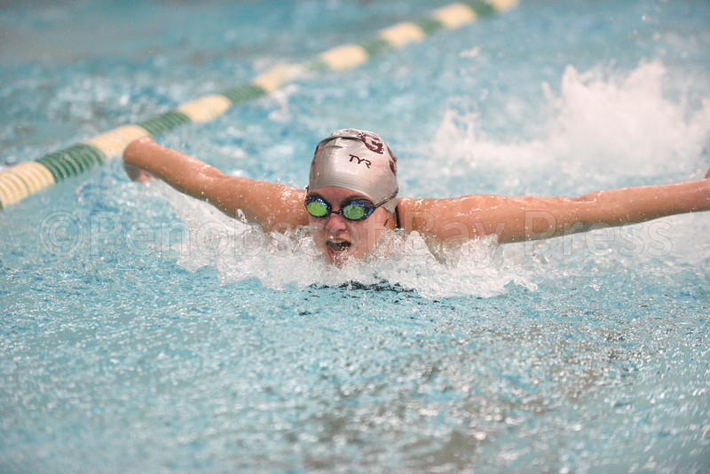 sports; GSA; swim; pvcs; Emma; Larson; Whittaker; 021617; Eagles; George Stevens Academy; game; high school; school; sport; team Emma Larson-Whittaker, Girls 200 Yard Medley Relay.  Photo by Franklin Brown