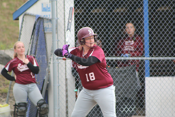SPORTS; GSA; DISHS; softball; Crocker; 051117 Courtney Crocker stands in at the plate for her second at bat of the game. Photo by Monique Labbe